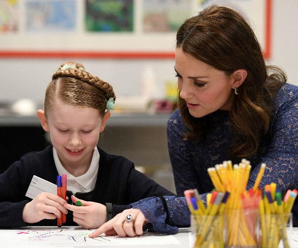 At the event she shared an intimate chat with children from Albion Primary School in Rotherhithe, London.