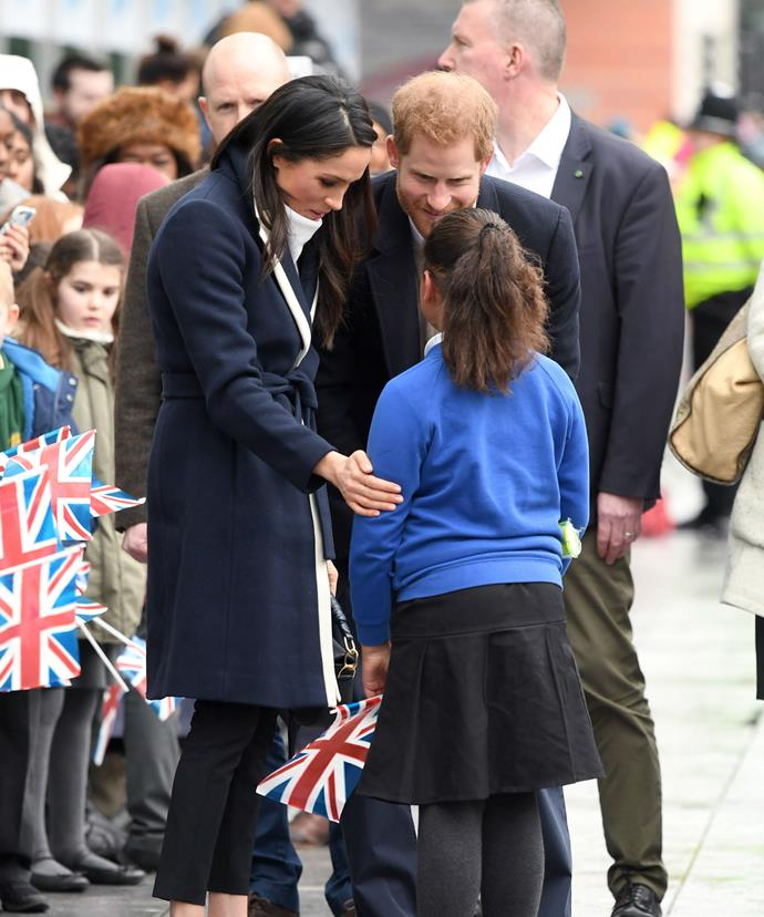 Meghan, a former actress, was only too happy to share some words of encouragement with the young girl.