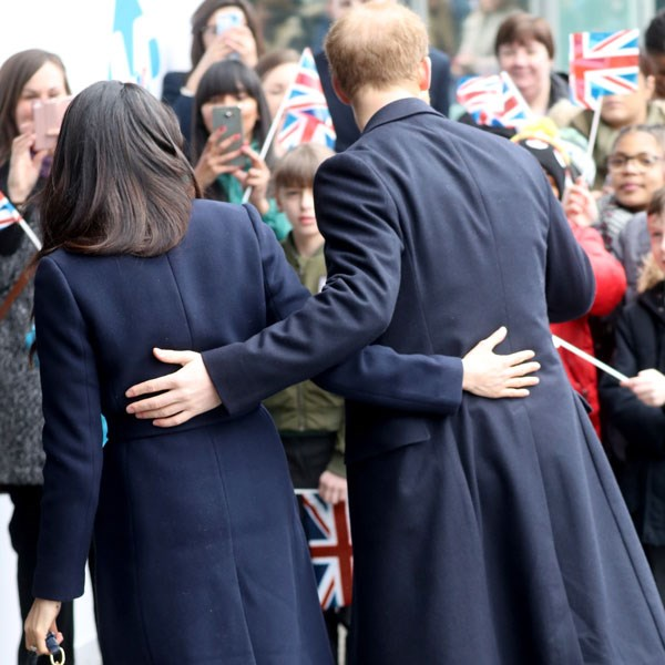 Prince Harry and Meghan Markle in Birmingham last week were rarely not openly showing affection.