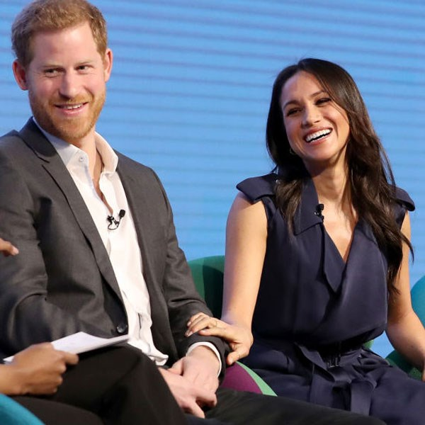 At the Royal Foundation Forum, loved-up Prince Harry and Meghan Markle couldn't keep their hands off each other.