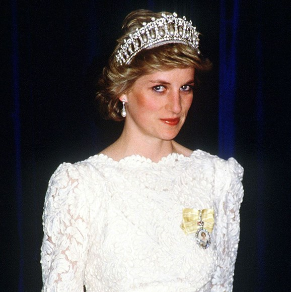 The Lover's Knot tiara became a favourite of Diana, Princess of Wales, pictured here in 1986.
