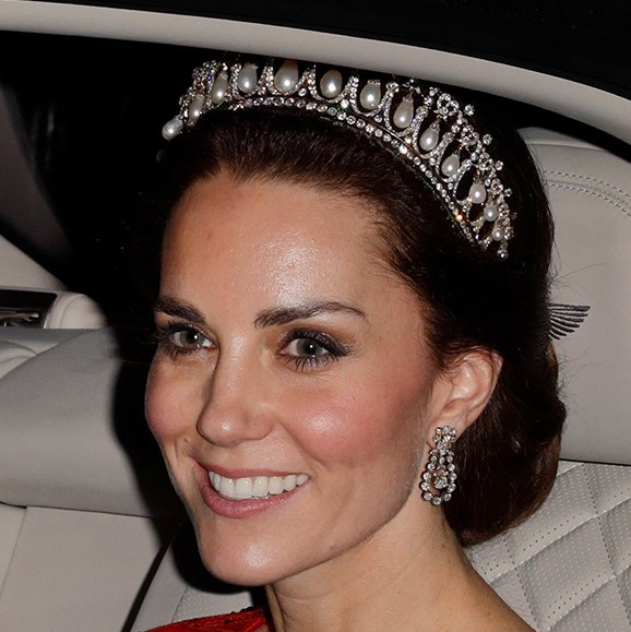 The Duchess Of Cambridge wore the tiara to the Diplomatic Reception at Buckingham Palace in 2016.