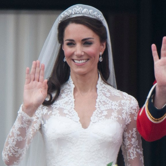 The Duchess of Cambridge wore the Cartier Halo on her wedding day in 2011.