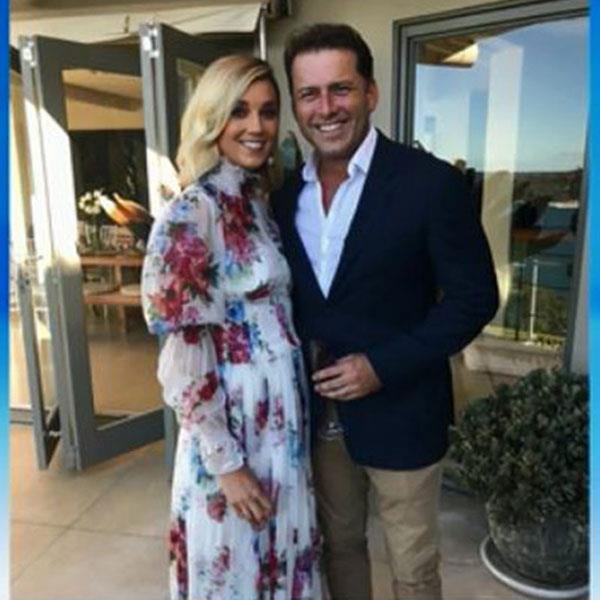 The photo released by Channel Nine's Today Show this morning from Karl Stefanovic and Jasmine Yarbrough's commitment ceremony. **(Image/Channel Nine)**