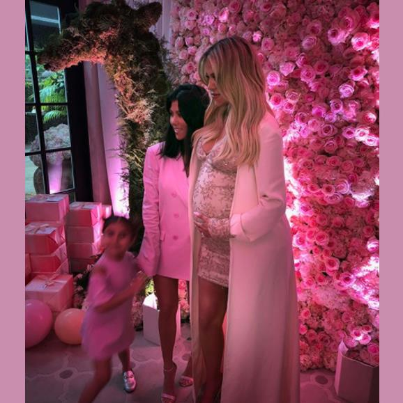 Kourtney's daughter Penelope was at the family affair.