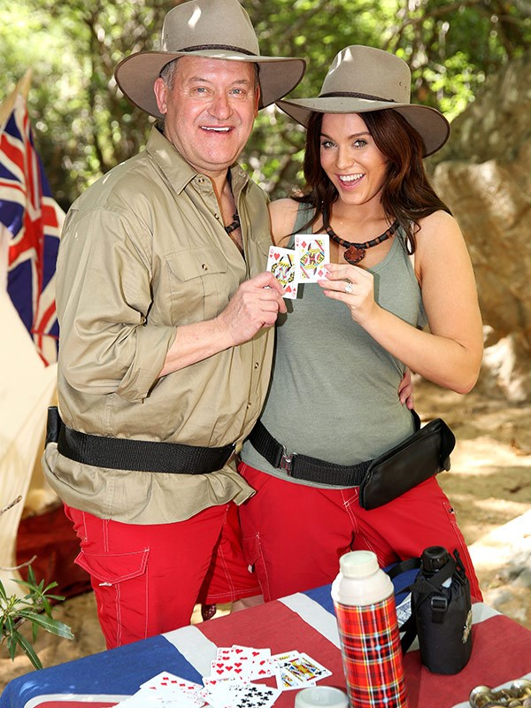 Vicky entered the jungle with Paul Burrell.