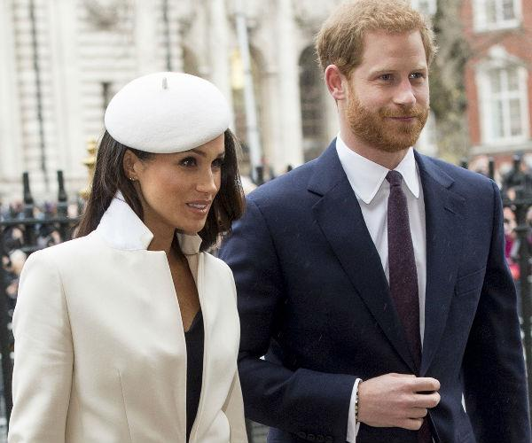Meghan arrived to the formal event on the arm of her husband-to-be, Prince Harry.
