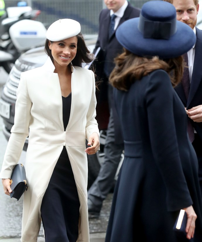 The former actress perfectly coordinated her outfit with her future sister-in-law.