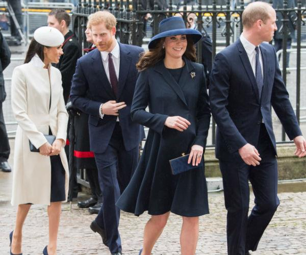 Meghan, Harry, Kate and William stepped out in all their glory for the Commonwealth Day church service at Westminster Abbey on Monday.