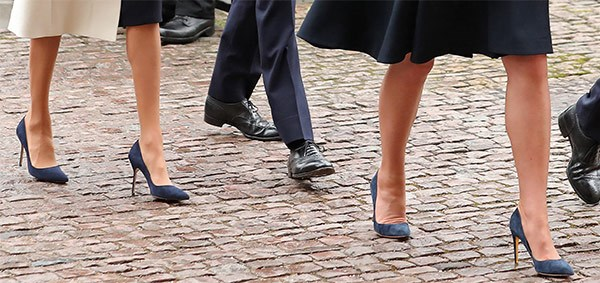 Putting their best foot forward in very very shoes.