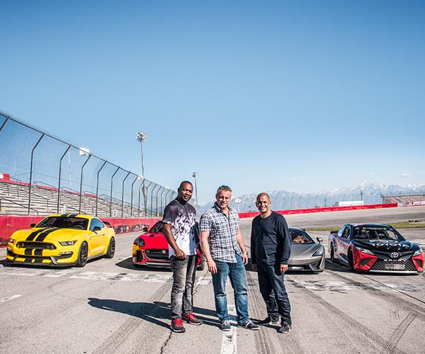 Matt with his *Top Gear* co-hosts Rory Reid (left) and Chris Harris.
