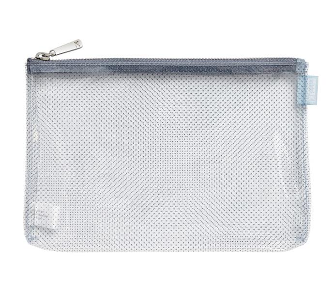 "Avoid mindless mess by keeping any pens, toiletries and important receipts into a clear zipped case. That way, when it comes to quickly finding an item, you'll have a lot less rubbish to sort through. Genius. <br><br> [Kikki-k travel pouch](https://www.kikki-k.com/travel-pouch-world|target=""_blank""