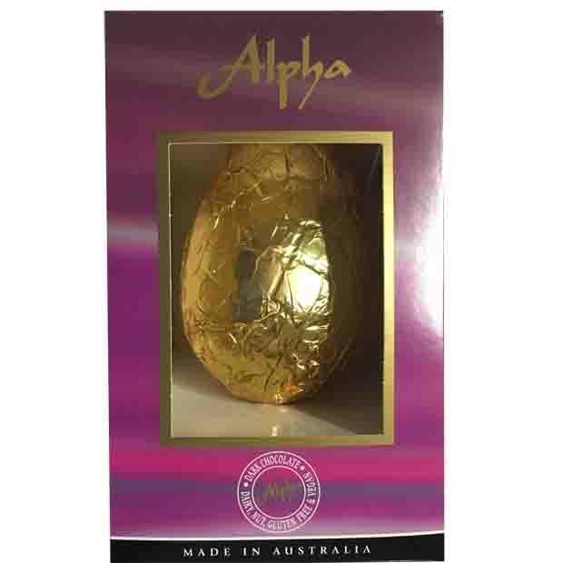 This delish Australian-made large dark chocolate Easter egg is $25.65. It's indulgent but still Vegan, Dairy-free, nut-free and gluten-free!