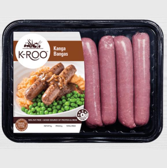 K-roo Kanga Bangers, 1.0g salt/100g.