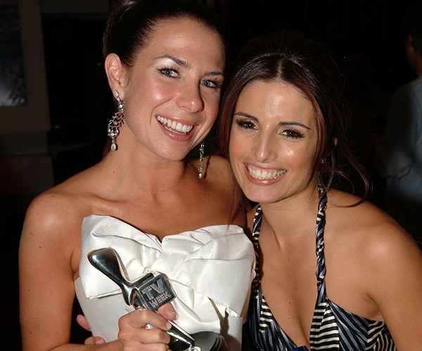Kate celebrates winning her Silver Logie in 2006 with Ada Nicodemou.