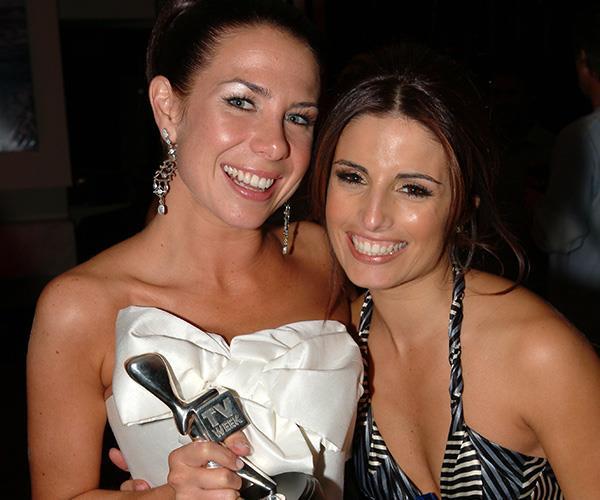Kate celebrates winning her Silver Logie in 2006 with Ada Nicodemou.