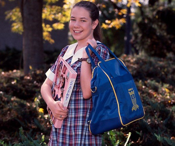 As our favourite schoolgirl in *Home And Away*.