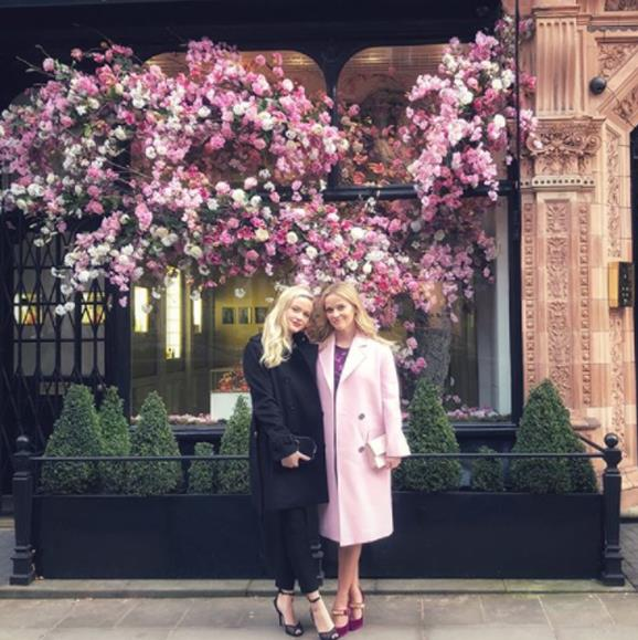 Reese Witherspoon's 18-year-old daughter Ava has been by her mum's side while on a press tour for her new film *A Wrinkle In Time*. Here, the mother-daughter duo take a break from work to pose for an Instagram snap ion the streets of London. The pair look so similar, perhaps Ava can step in for her mum when she tires of all the interviews!