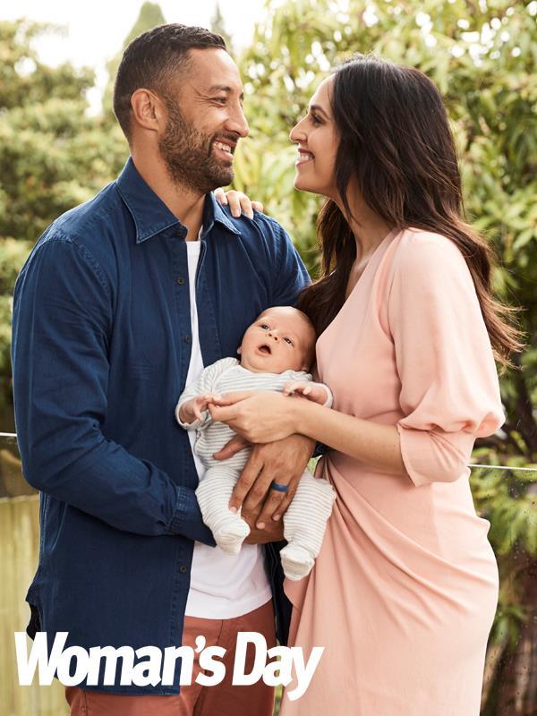 Benji and Zoe Marshall with baby Benjamin Fox.