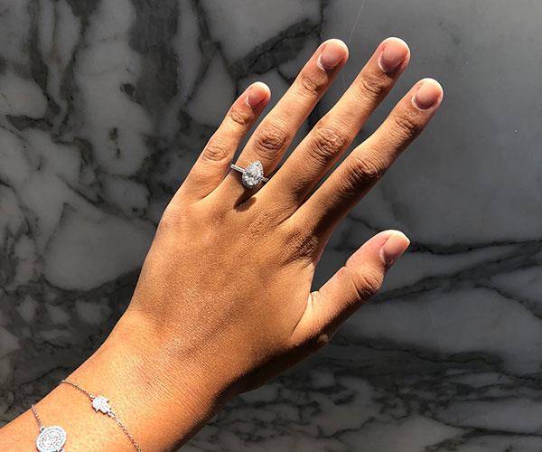 Michael gave me a stunning diamond ring.