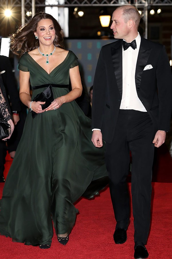 In the early months of her pregnancy, Duchess Catherine suffered from Hyperemesis Gravidarum. But the royal, pictured at the BAFTAs in London, soon recovered and returned to her busy work schedule.