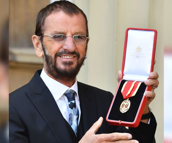 Prince William Knights Ringo Starr