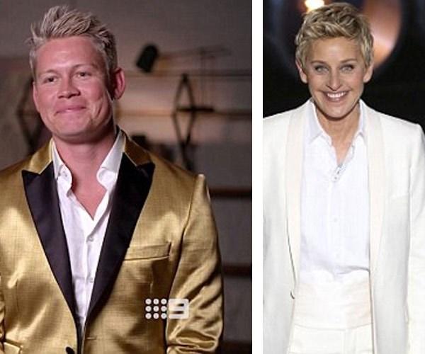 Fans were quick to compare Sean to Ellen.