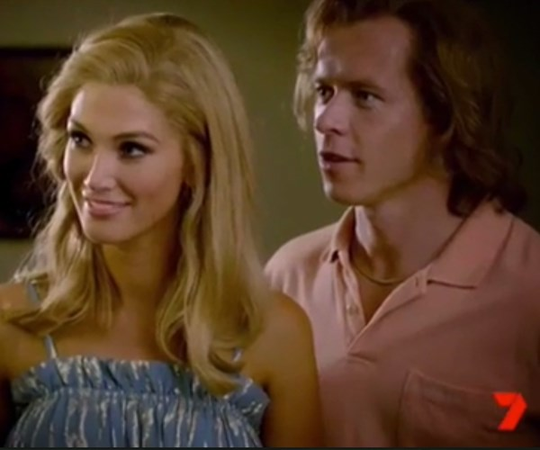 Delta and Todd Lasance in *Olivia*.