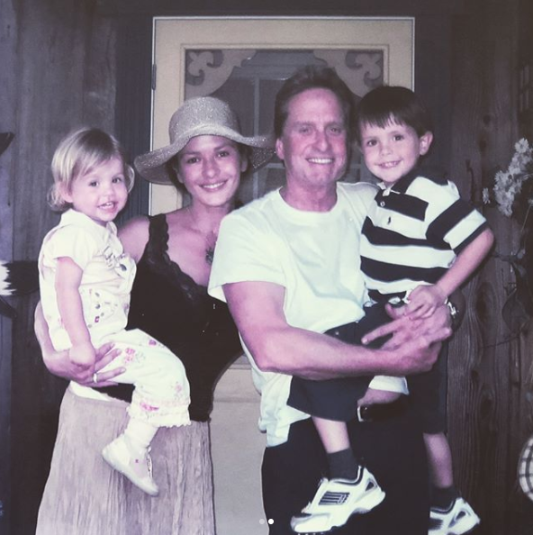 "Is there anything cuter than a throwback family snap? Maybe recreating it years later! Catherine Zeta-Jones, Michael Douglas and their now teenage kids, Carys, 14, and Dylan, 17, recreated this adorable family holiday snap. Catherine posted the two shots to her Instagram account with the caption: ""As time goes by! Outside our cottage in Canada""."