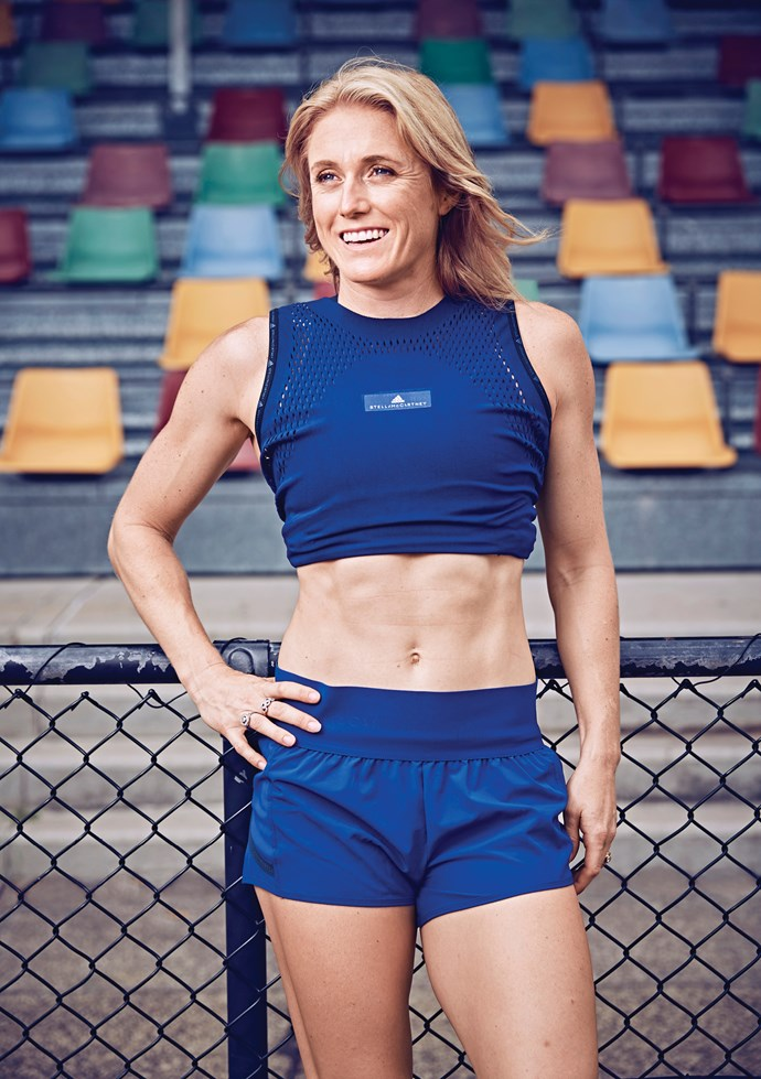"""""""Proud perfectionist"""" Sally manages her anxiety every day, even when she's training on the track."""