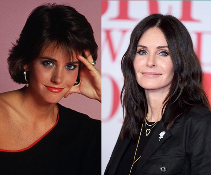 Courteney Cox in 1985 and in 2018 - she hardly looks like she's aged at all!