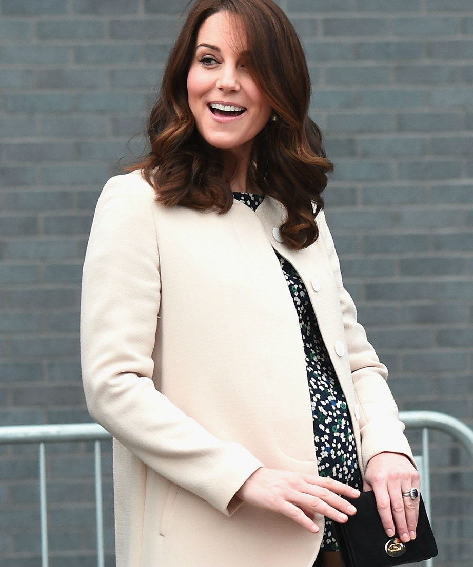 And she goes out with a bumpy bang!On March 22, Duchess Catherine carried out one last day of royal engagements before going on maternity leave in London, and looks glowier than ever.