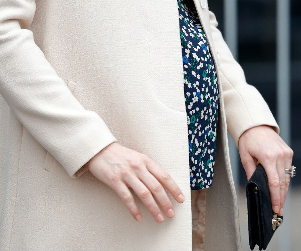 This day/outfit the pregnant royal's very last string of engagements before going on maternity leave.
