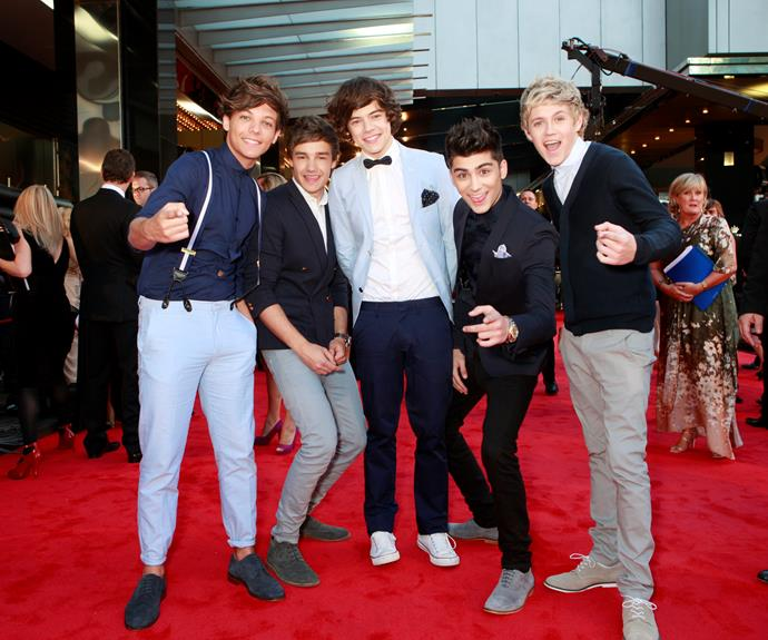 "**One Direction**  The squeals when British boy band One Direction arrived on the red carpet in 2012 were deafening.  Crowds cheered them on as they sang ""What Makes You Beautiful"" before the event kicked off."