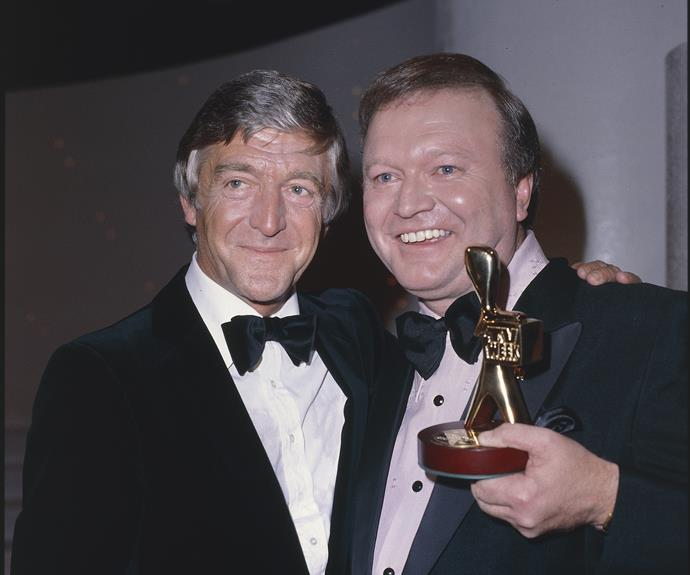 **Michael Parkinson**  International guest Michael Parkinson hosted the TV WEEK Logies in 1981.