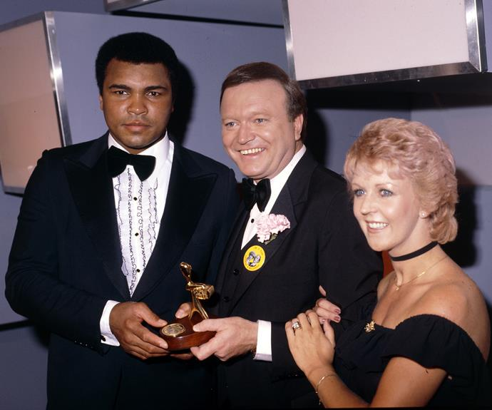 "**Muhammad Ali**  Host Bert Newton infamously made a gaffe when he said ""I like the boy"" while on stage with American boxer Muhammad Ali.  The sporting legend attended the TV WEEK Logies in 1979."