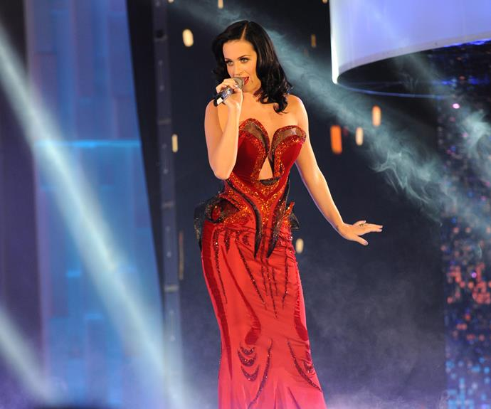 **Katy Perry**  There were plenty of Fireworks when international songstress Katy Perry performed at the 2011 TV WEEK Logies.  She later hammed it up for some photos with Hamish Blake and Andy Lee.