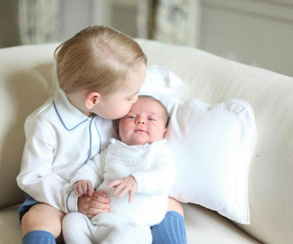 Kate's photography is natural and candid which stands in stark contrast to the rigid and staged royal portraiture of yesteryear. Here, the beloved royal welcomes Princess Charlotte into the world with an official portrait alongside brother Prince George.