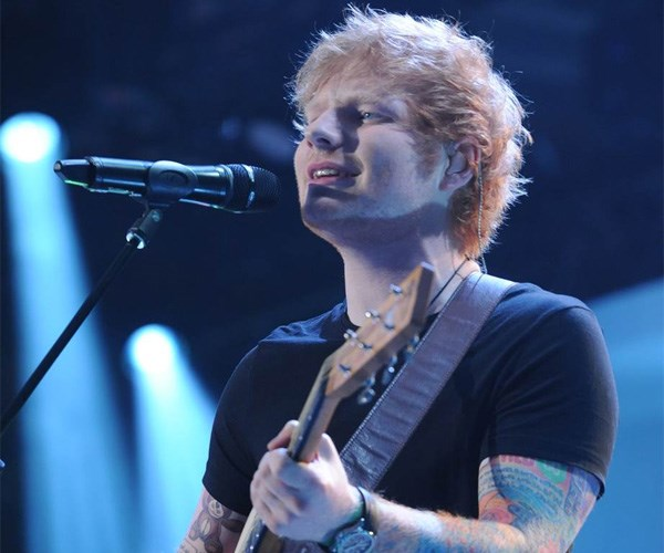 "*Ed Sheeran*  The English singer, songwriter  and producer turned up in 2014 to perform his hit single ""Sing"". Launching into his performance in traditional  Ed style – just guitar, loop pedal and himself – the star kicked it up a notch when he hit the chorus, revealing  a band and back-up singers."