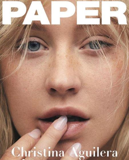 Stripped back and raw as ever, Christina Aguilera fronts the cover of *Paper* magazine (the same magazine responsible for Kim Kardashian's derriere breaking the internet) and it's delightfully refreshing to see the singer baring all. Just look at those freckles!