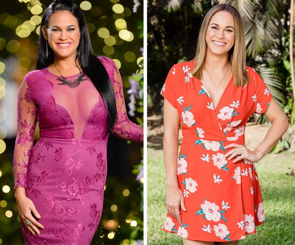 Nina on *The Bachelor Australia* in 2015...and fit and loving it in 2018.