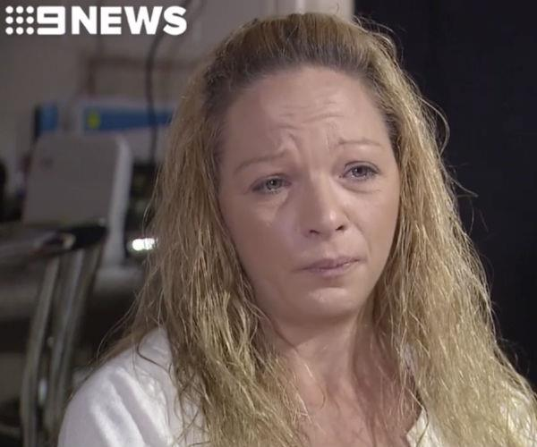 "Sharlene Scott said she felt like a ""hopeless parent"" after discovering her daughter had taken her own life. (Image via *9NEWS)."