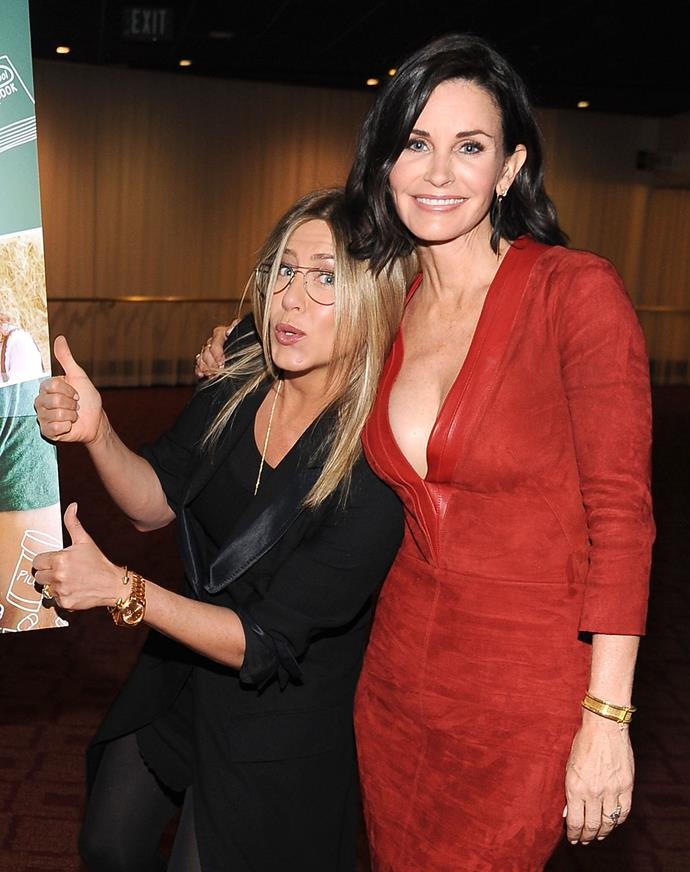 Courteney Cox isn't afraid to keep it 100% real with longtime pal Jennifer Aniston.