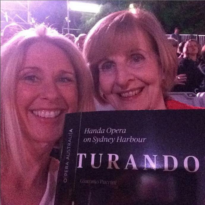 Tracey with Caroline Jones