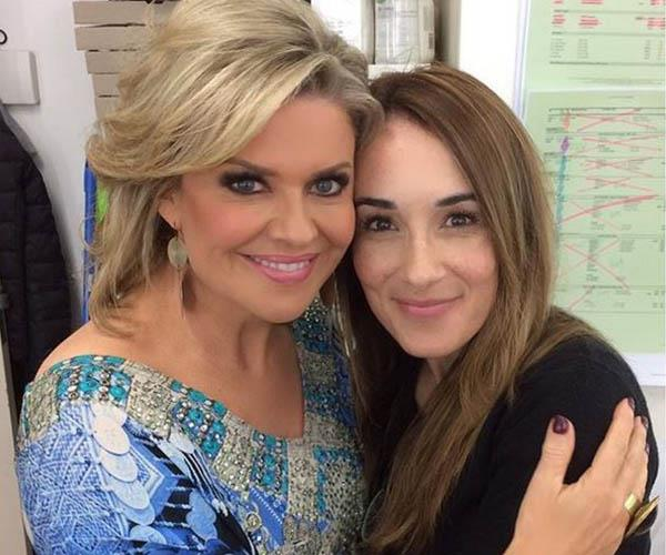 Laura Vazquez (pictured here with co-star Emily Symons), who played schoolgirl Sarah in the '90s, is now one of the show's hair and make-up artists.