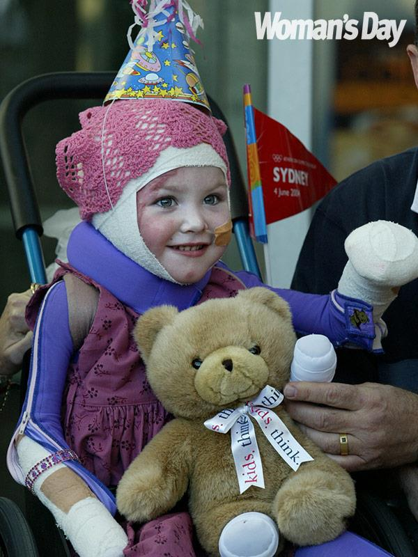 Nearly 15 years ago, a car ploughed into Sophie's daycare centre and burst into flames.