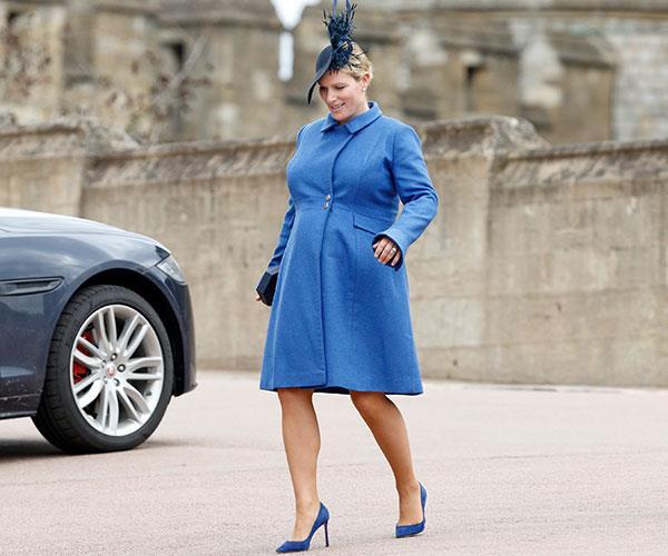 Zara looks stunning in blue.
