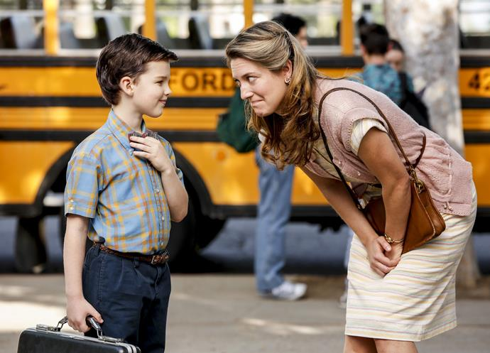 Mum Mary, who is played by Laurie Metcalf in *The Big Bang Theory*, nurtures and protects her gifted son.