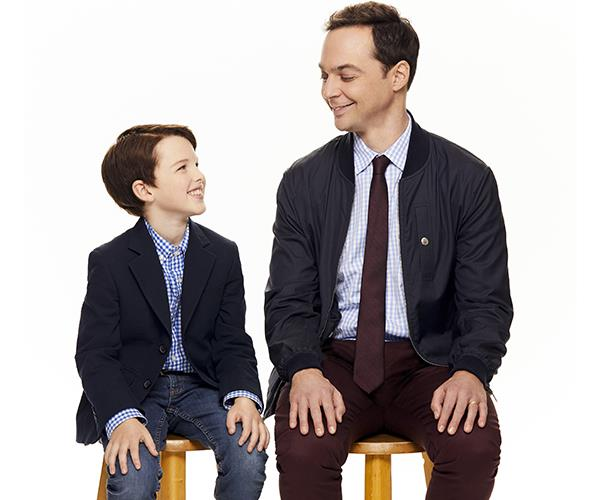 Jim Parsons says he enjoys discussing the character with his younger counterpart.