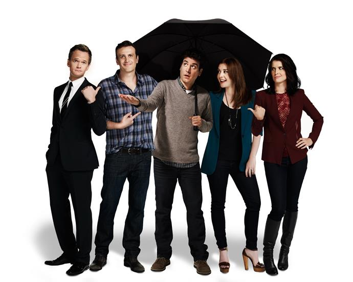 The *HIMYM* cast (from left): Neil Patrick Harris (Barney), Jason Segel (Marshall), Josh Radnor (Ted), Alyson Hannigan (Lily) and Cobie Smulders (Robin).